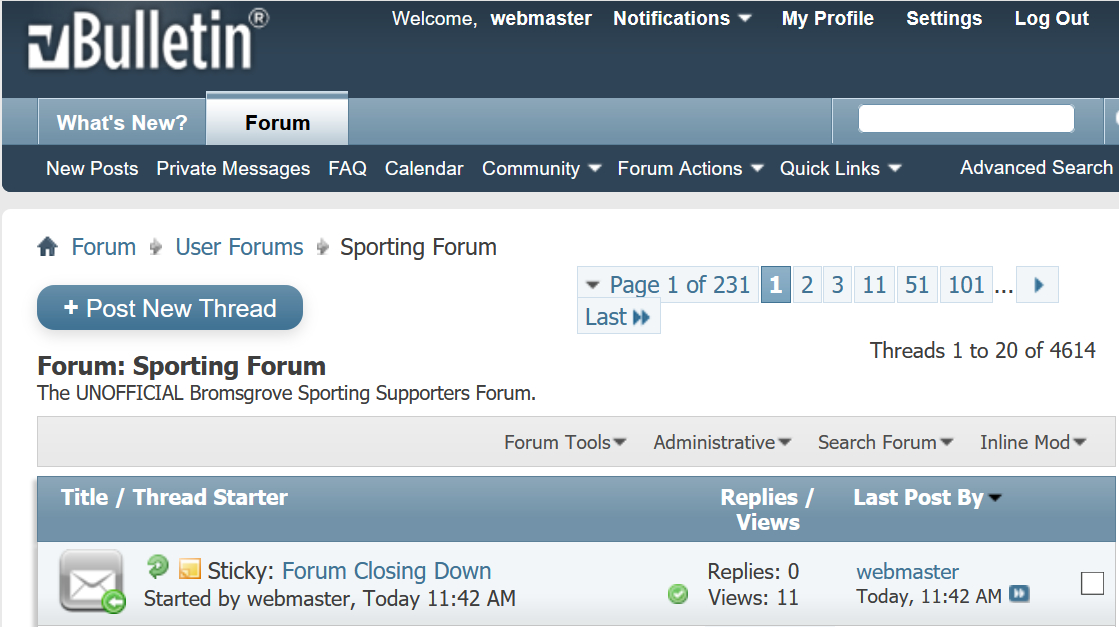 FORUM NEWS: Unofficial Forum Closing Down