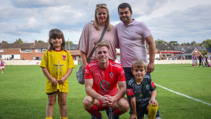 SPONSORS DAY: Gareth Hodson and family enjoy special day